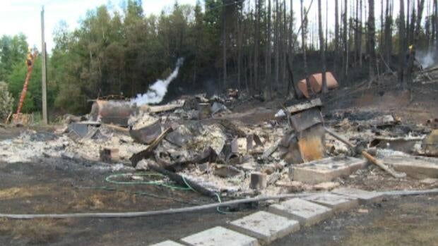 A fire near Green Bay destroyed two homes in Nicky's Nose Cove and damaged another.