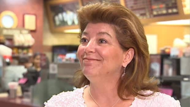 Monica Kavanaugh bought 800 cups of coffee at the Tim Hortons in Edmonton's Royal Alexandra Hospital to give back to the staff who help care for her father.