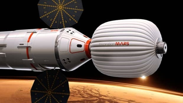 The two space travellers will live and work in an inflatable habitat module that Inspiration Mars Foundation chair Dennis Tito says will be purchased from Canada.