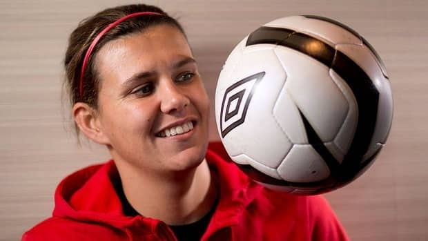 Canada's star striker Christine Sinclair will miss the upcoming Four Nations Cup in China because of a four-game suspension incurred at last summer's London Olympics.