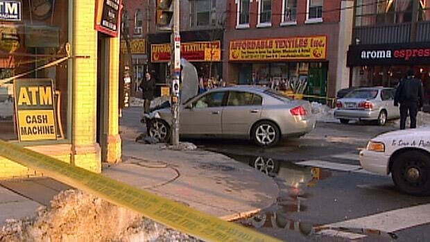 A woman was struck near Queen Street West and Augusta Avenue on Wednesday afternoon.