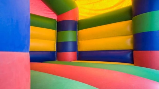 A bouncy castle, just like one that will be at Forbes Park in Cambridge on Saturday.