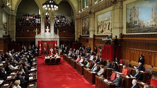 Gov. Gen. David Johnston delivers the throne speech in the Senate Chamber on June 3, 2011. A bill to reform the Senate, a key measure of the throne speech, will be tabled in the House of Commons, CBC News has learned.