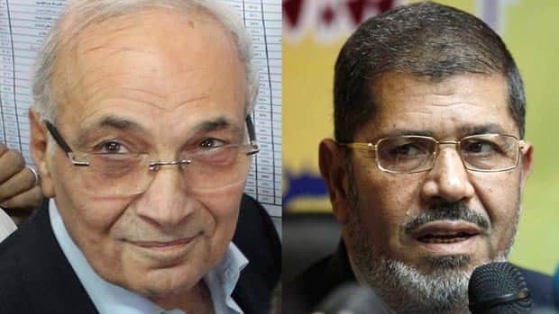Egyptian presidential candidates Ahmed Shafiq and Muslim Brotherhood Mohammed Morsi will face off in a runoff vote next month.