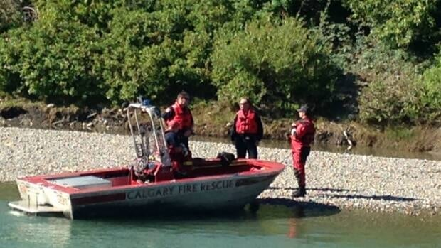 Calgary fire rescue officials at the scene of where a body was found earlier this morning.