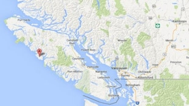 The quake hit about 25 kilometres west of Nootka Island, off the north coast of Vancouver Island.