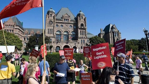The teachers began protesting against Bill 115 in the summer.