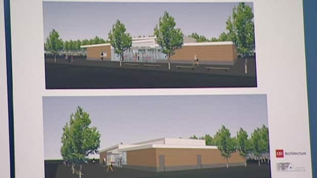 Exterior design of new community centre for the Southlands area of St. John's.