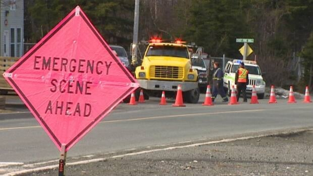 Police held a mock accident in Conception Bay South on Saturday to raise awareness of the dangers of driving while distracted.
