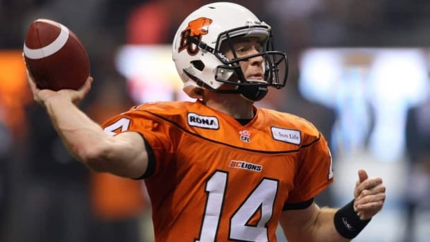 Thomas DeMarco will start at quarterbackfor the Lions Friday against visiting Saskatchewan while Travis Lulay, shown here, remains out with a shoulder injury.