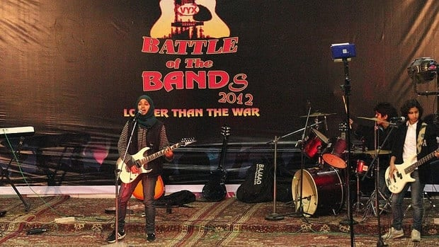 Kashmir's first all-girl rock band Pragaash (First Light) are seen performing at the annual Battle of the Bands in Srinagar, India in December. The group has decided to disband because of threats to its three teenaged members.