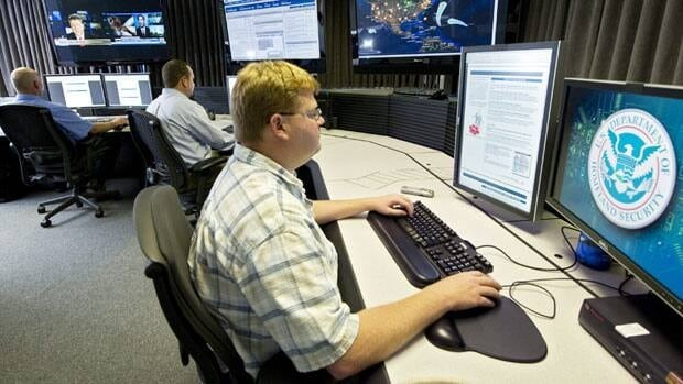 A cybersecurity analyst works in the watch and warning centre in this 2011 file photo of the U.S. government's secretive cyber-defence lab in Idaho Falls, Idaho.