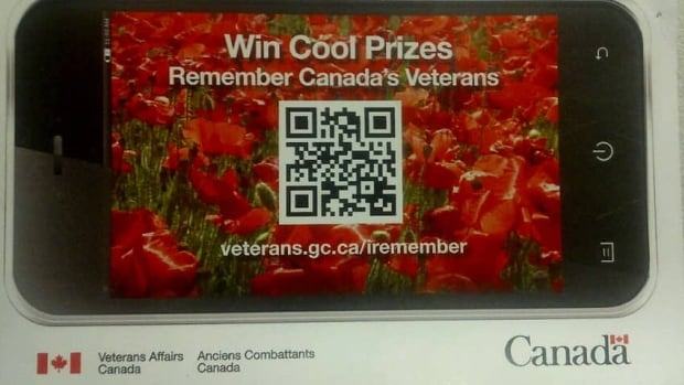 This card offering Remembrance Day prizes went home with schoolchildren across Canada.