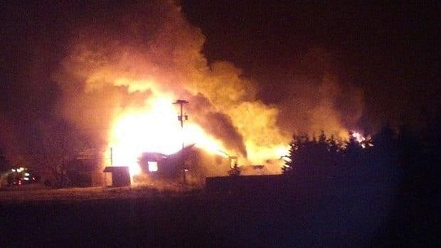 Fire destroyed Joe Dunphy Custom Woodworking in Morell overnight Thursday.