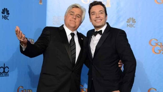 Jay Leno is stepping aside at the Tonight Show so Jimmy Fallon can take over as host.