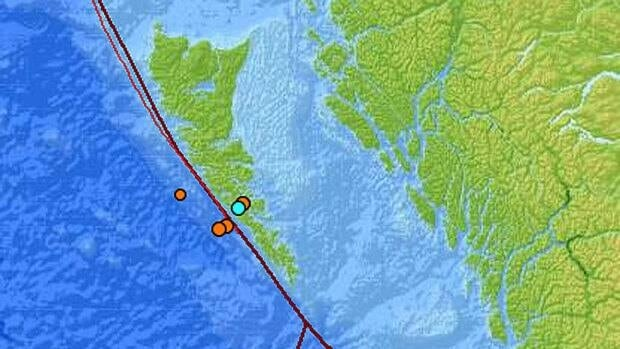 According to the U.S. Geological Service website, a total of six minor earthquakes ranging from magnitude 3.6 to 4.5 have struck the Haida Gwaii area since March 12, 2013.