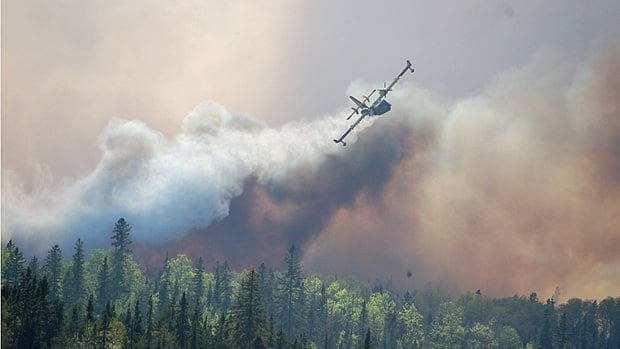 By 8:30 p.m. Sunday the 1,500-hectare fire was headed northeast, away from Kirkland Lake and toward residential and cottage areas on Goodfish and Nettie lakes.