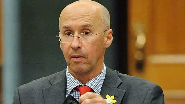 Kevin Page, parliamentary budget officer, appears at Commons finance committee on Parliament Hill in Ottawa on April 26, 2012. He is going to court over the refusal of some federal departments to hand over details of billions of dollars in planned cuts by the Harper government.