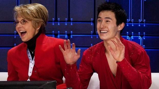 With the help of Christy Krall, left, Toronto skater Patrick Chan has won two consecutive world titles.