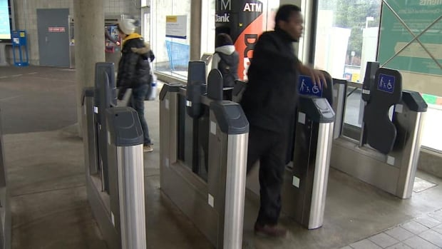 TransLink's Compass Card fare gates have been installed, but are only being used by a limited number of cardholders.