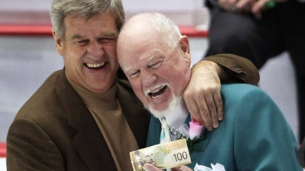 Bobby Orr, left, and Don Cherry have engaged in friendly competition as opposing coaches in the CHL prospects game.