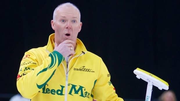 Glenn Howard during action at the National Grand Slam of Curling on Friday, Jan. 25, 2013.