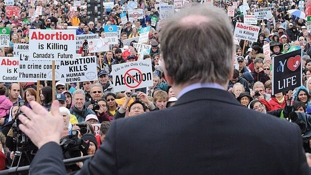 Conservative MP Stephen Woodworth, pictured at last year's March for Life rally on Parliament Hill, stirred the abortion debate in the House of Commons in the fall and will be attending tomorrow's rally.