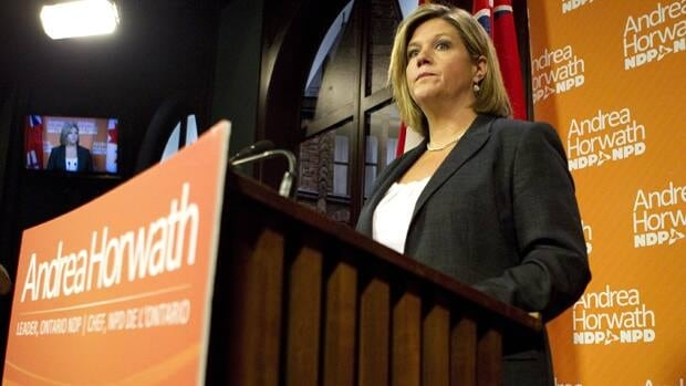 NDP Leader Andrea Horwath says she told Premier Dalton McGuinty she would make changes to the budget bill.