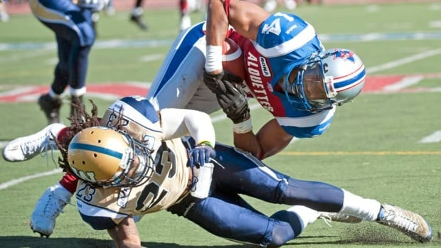 Winnipeg Blue Bombers defensive back Jonathan Hefney (23) was released by the club on Saturday.