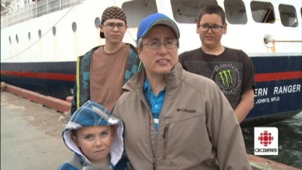 Elsie Wolfrey and her family were some of the passengers stranded when the Northern Ranger broke down.