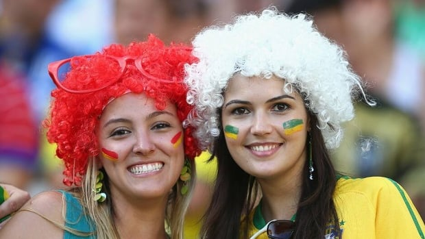 Fans during the semifinal match between Spain and Italy at Castelao on June 27, 2013 in Fortaleza, Brazil.