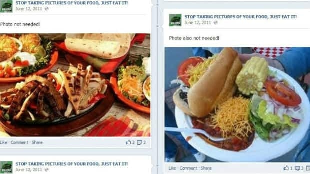 Some Facebook groups take aim at people who post pictures of their food.