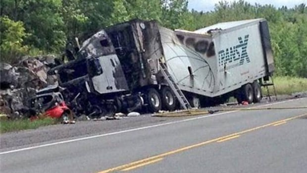 A Renfrew woman was killed on July 24 when a car and tractor-trailer collided on Highway 17. (Kamil Karamali/CBC)