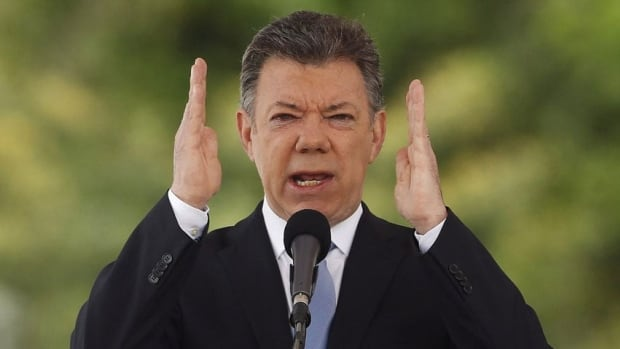 Colombia's President Juan Manuel Santos on Aug. 7. Government officials insisted Canadian mine executive Gernot Wober be freed before they would talk to guerrilla group ELN.