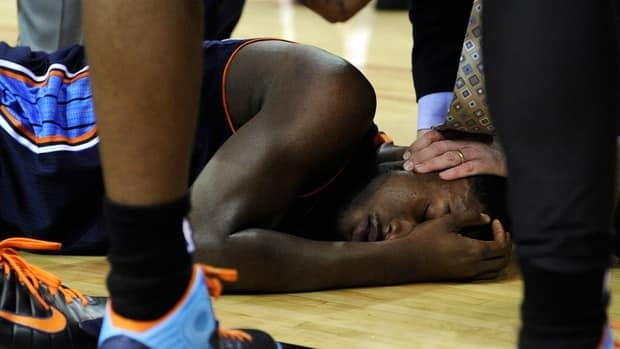 Michael Kidd-Gilchrist was moving his extremities and talking as he was wheeled off the floor.