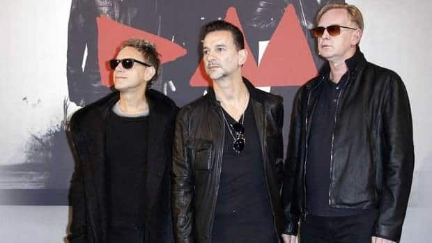 The members of Depeche Mode, (from left) Martin Gore, Dave Gahan and Andrew Fletcher, announced a 2013 album and tour in Paris on Wednesday.