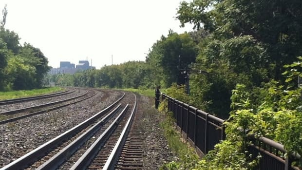 Toronto police are investigating after a body was found near the rail tracks at Jimmy Simpson Park on Friday.