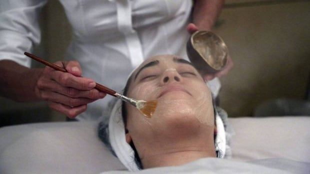 Salon owner Shizuka Bernstein applies a 'geisha facial' in the Shizuka New York skin care salon. The facial is a traditional Japanese treatment using imported Asian nightingale excrement.