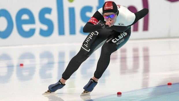 Canada's Christine Nesbitt skates during the women's 1500 metre race at an ISU World Cup spped skating event in Astana, Kazakhstan last December.