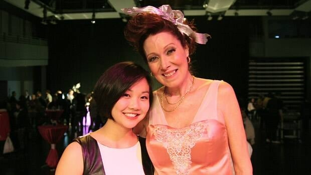 Fashion student Vivian Lee and former sex trade worker Norma Jean Neal worked together on a design for Out of the Shadows.