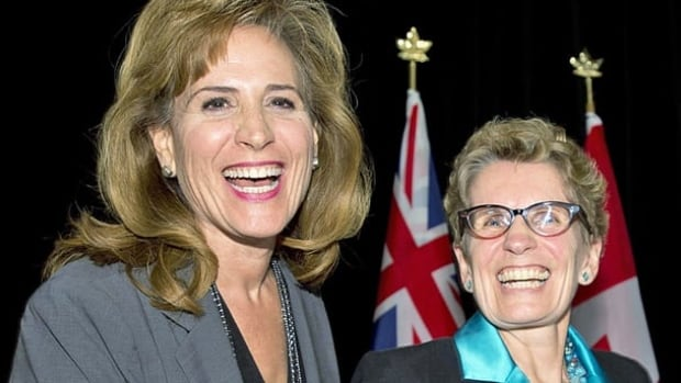 Former cabinet minister Sandra Pupatello, left, lost the Ontario Liberal leadership to Kathleen Wynne.