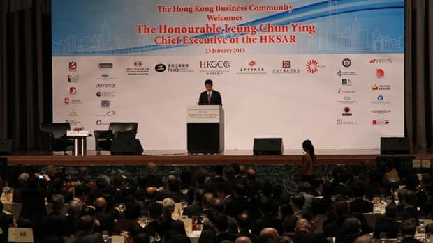 Hong Kong's leader, Leung Chun-ying, told the Hong Kong General Chamber of Commerce Wednesday that economic growth can be sustained by deepening ties with mainland China.