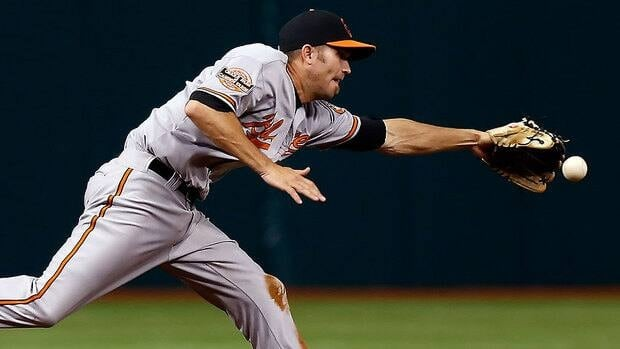 Orioles shortstop J.J. Hardy, seen here getting to this ground ball, led the American League in fielding percentage, making only six errors in 158 games.