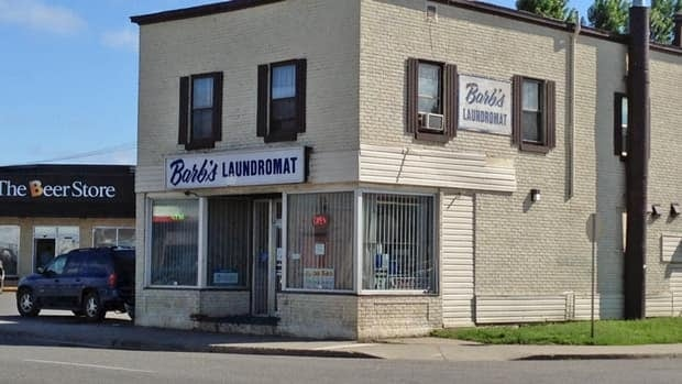 Barb's Laundromat on May Street in Thunder Bay was the location of a robbery on Thursday evening. Police are still looking for the suspect.