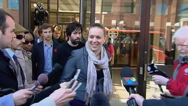 Student leaders exit closed-door talks with the Quebec government. CLASSE leader Gabriel Nadeau-Dubois and FEUQ leader Martine Desjardins.