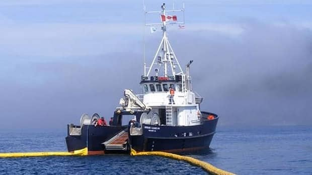 The Burrard Clean No. 9 is one of several vessels operated by Western Canada Marine Response Corporation to clean up oil spills on the West Coast.