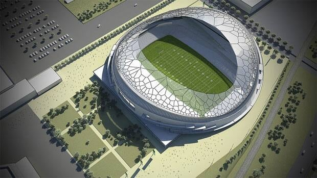 Regina is planning to build a new 33,000-seat football stadium.