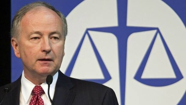 Justice Minister Rob Nicholson addresses the Canadian Bar Association's annual conference in Halifax last year.