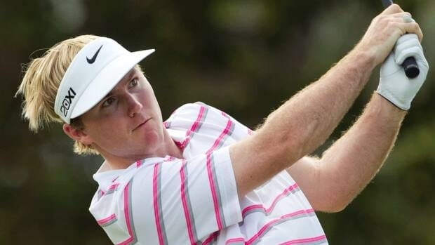 Russell Henley watches his drive during the second round of the Sony Open in Honolulu on Friday.