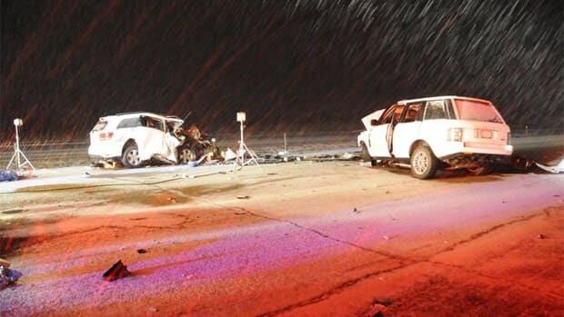RCMP released these images of Sunday's fatal crash near Innisfail, Alta.